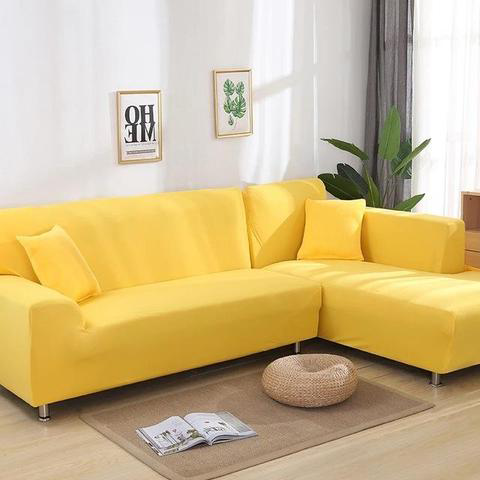 Corner Sofa - Yellow