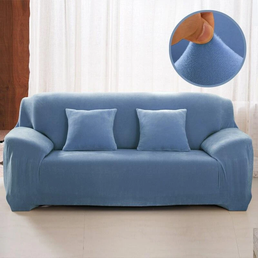 Velvet armchair cover - Light Blue