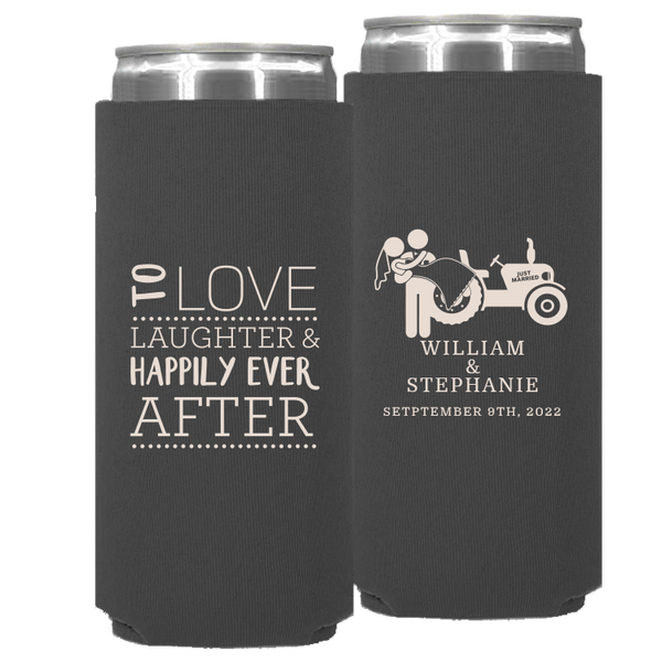 Wedding - Neoprene Slim Cans
