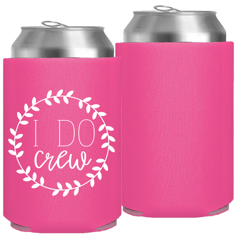 Pre-Printed Foam Can - I Do Crew