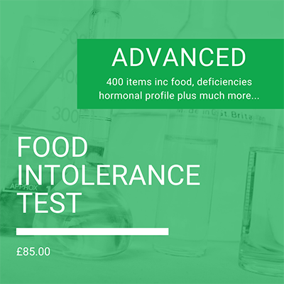 Advanced Food Intolerance Test by Nutrition To Go, Food sensitivity
