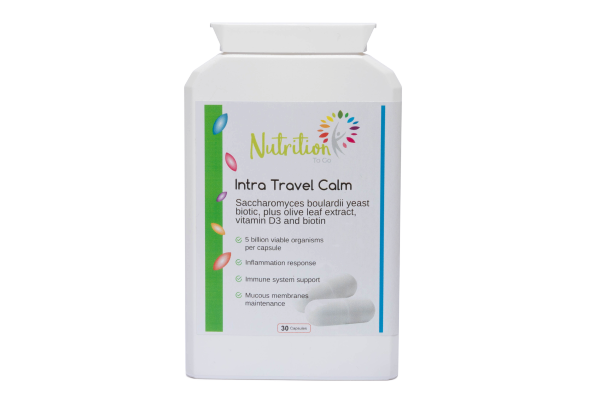 Intra Travel Calm probiotics for travellers