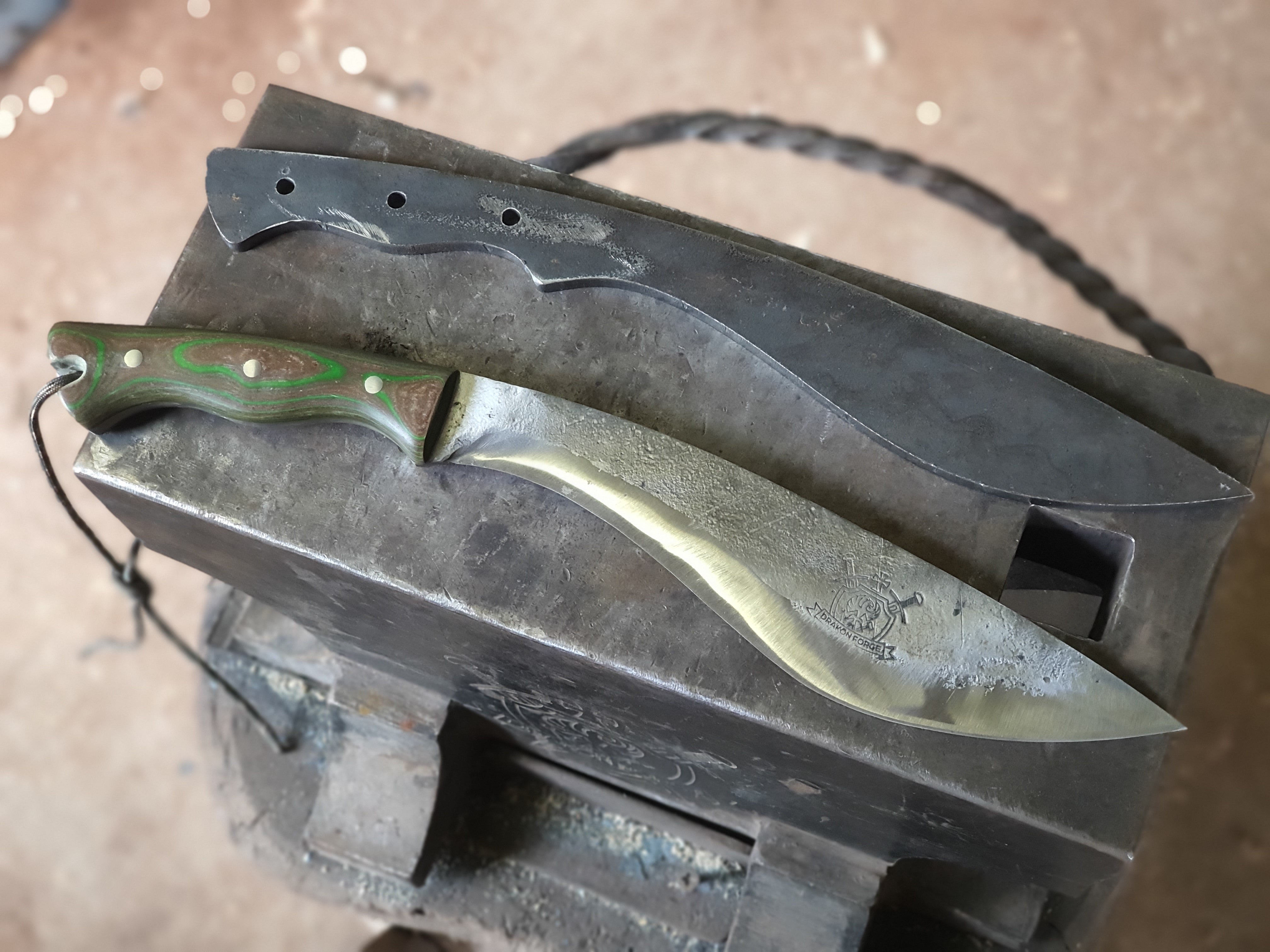 Kukri knife blank