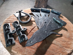 Hand forged decorative hinges & bolts
