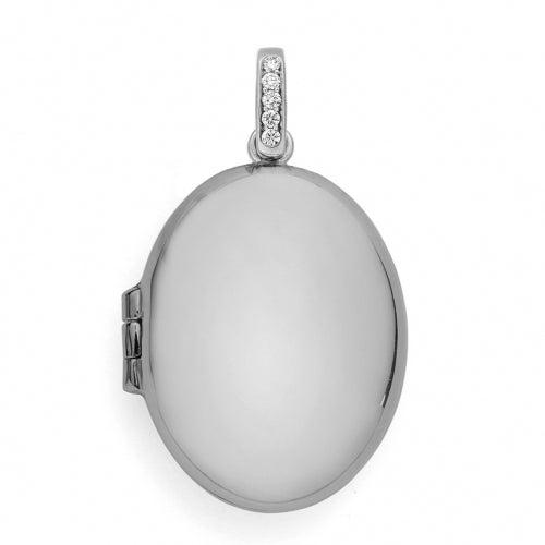 White Gold Locket.