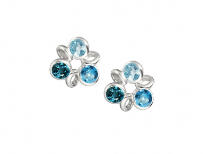 Trio of Blue Topaz Stud Earrings