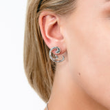 Silver Element Stud Earrings