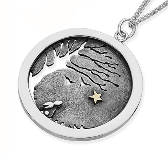 Silver and Gold Rabbit, Star Necklace