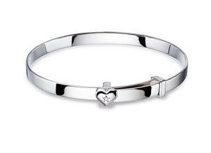 Kids Silver Heart Wrist Wear.
