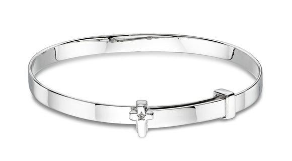 Honor Diamond Cross Baby Bangle.