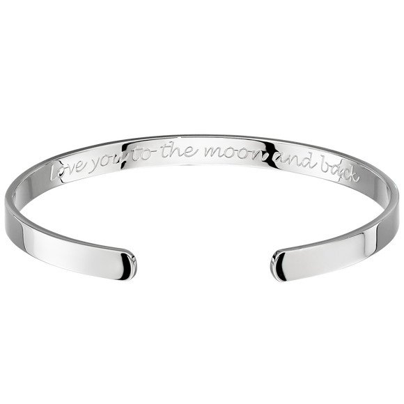 Love You To The Moon And Back Child's Bangle.