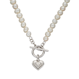 Silver Pearl Children's Necklace.