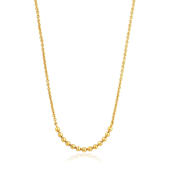 Gold Modern Multiple Balls Necklace