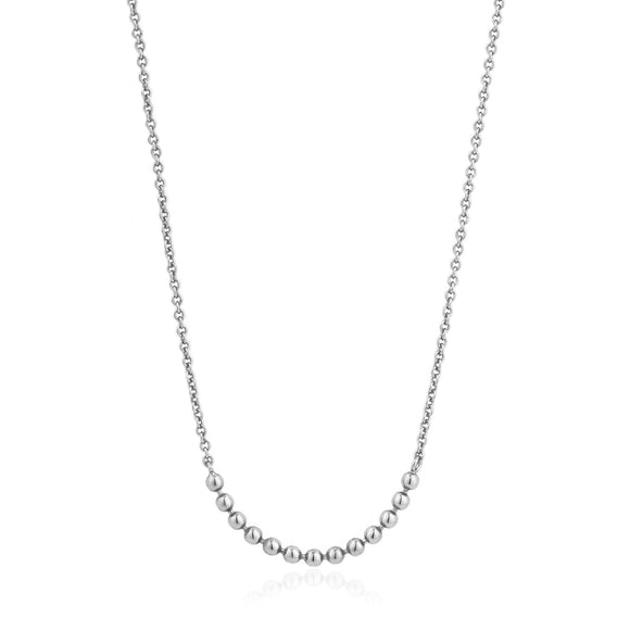 Silver Modern Multiple Balls Necklace.