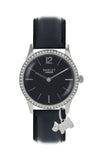Radley Women's Blair Leather Strap Charm Watch, Black