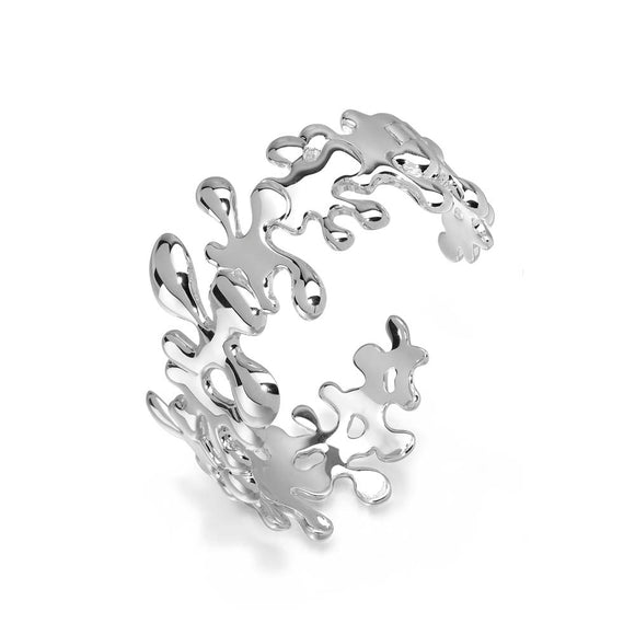 Silver Splash Hinged Bangle