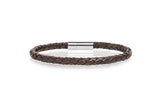 Gents Narrow Leather Bracelet.