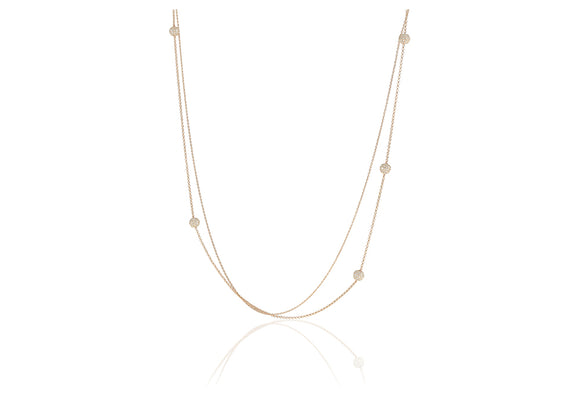Rose Gold Long Double Necklace