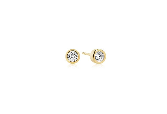 Yellow Gold Classic Stud Earrings