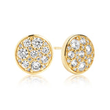 Round Dazzling Stud Earrings