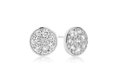 Silver or Gold Multi Cubic Zirconia Stud Earrings
