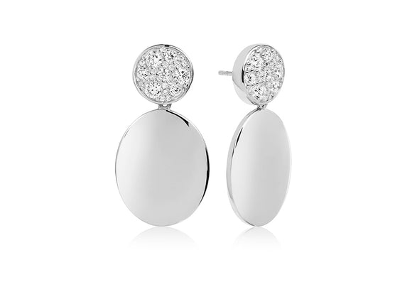 Show Stopper Silver Sparkling Drop Earrings