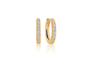 Very Comfortable Gold Small Hoop Earrings.