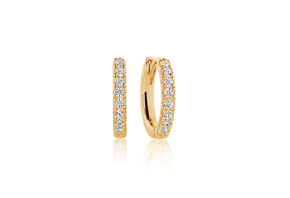 Very Comfortable Gold Small Hoop Earrings