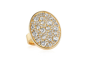 Yellow Gold Large Oval Dazzling Ring