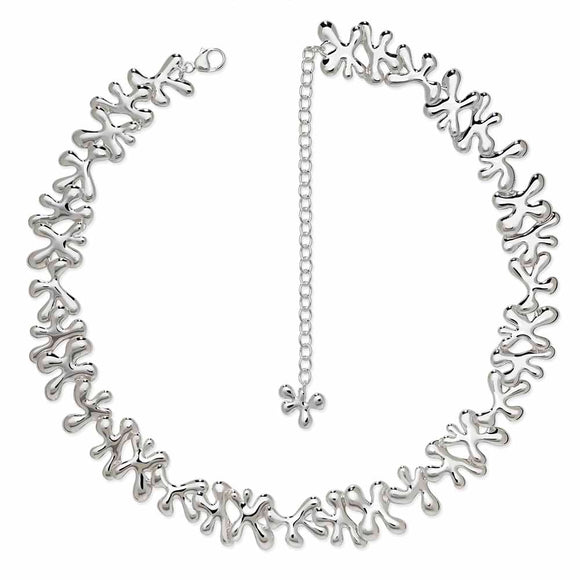 Silver Splash Necklace