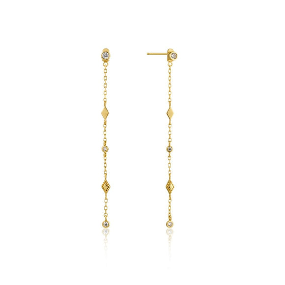 Yellow Gold Bohemia Drop Earrings