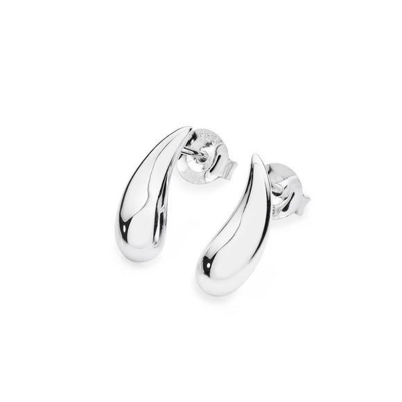 Silver Droplet Stud Earrings