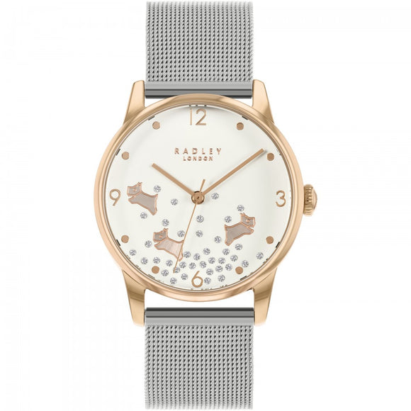 Radley Women's Dancing Dog Silver Watch
