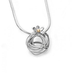 Silver Wire/Flower Necklace