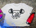 """Limited Edition"" Goal Getter Ladies Flowy Cropped Tee"