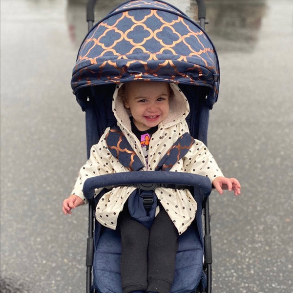 Your Babiie Nicole Snooki Polizzi Navy Moroccan Compact Stroller