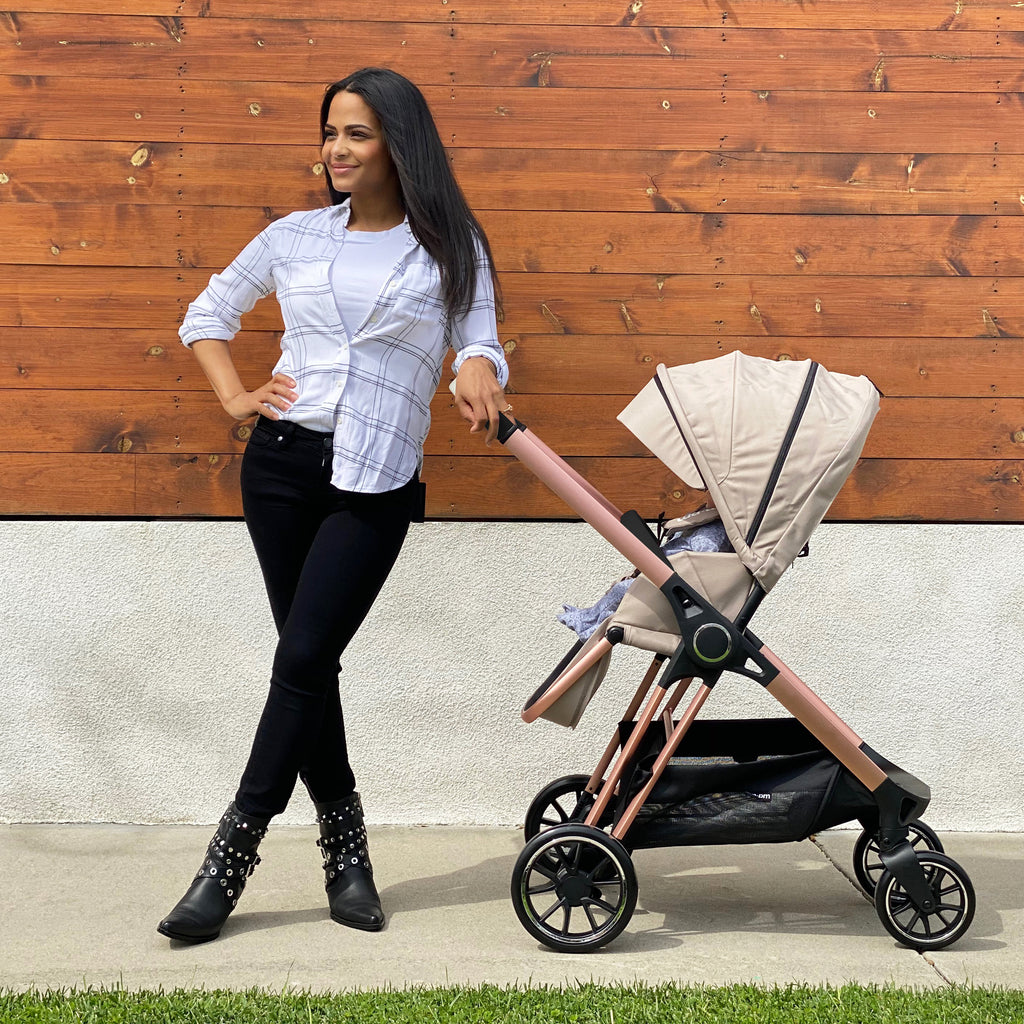 "AM:PM by Christina Milian - Rose Gold & Nude ""Victoria"" Stroller"