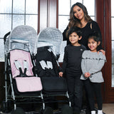 "MAWMA by Nicole ""Snooki"" Polizzi - Marble ""Chelsea"" Double Stroller"
