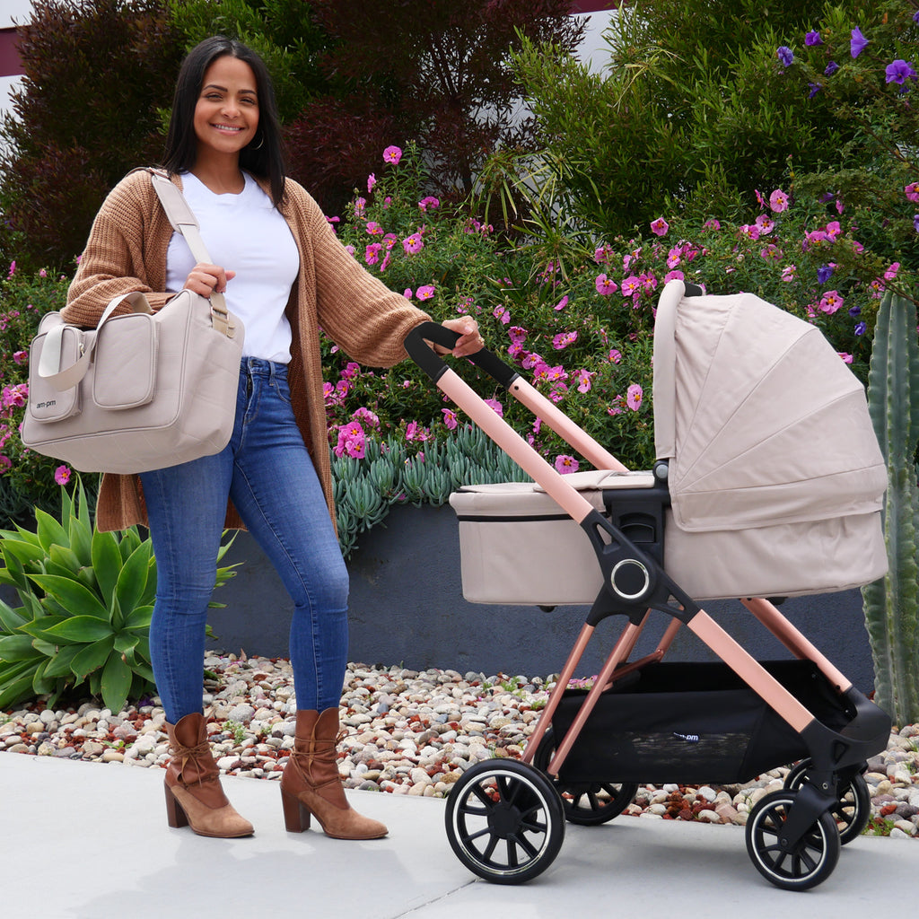 "AM:PM by Christina Milian - Rose Gold & Nude ""Victoria"" Bassinet"