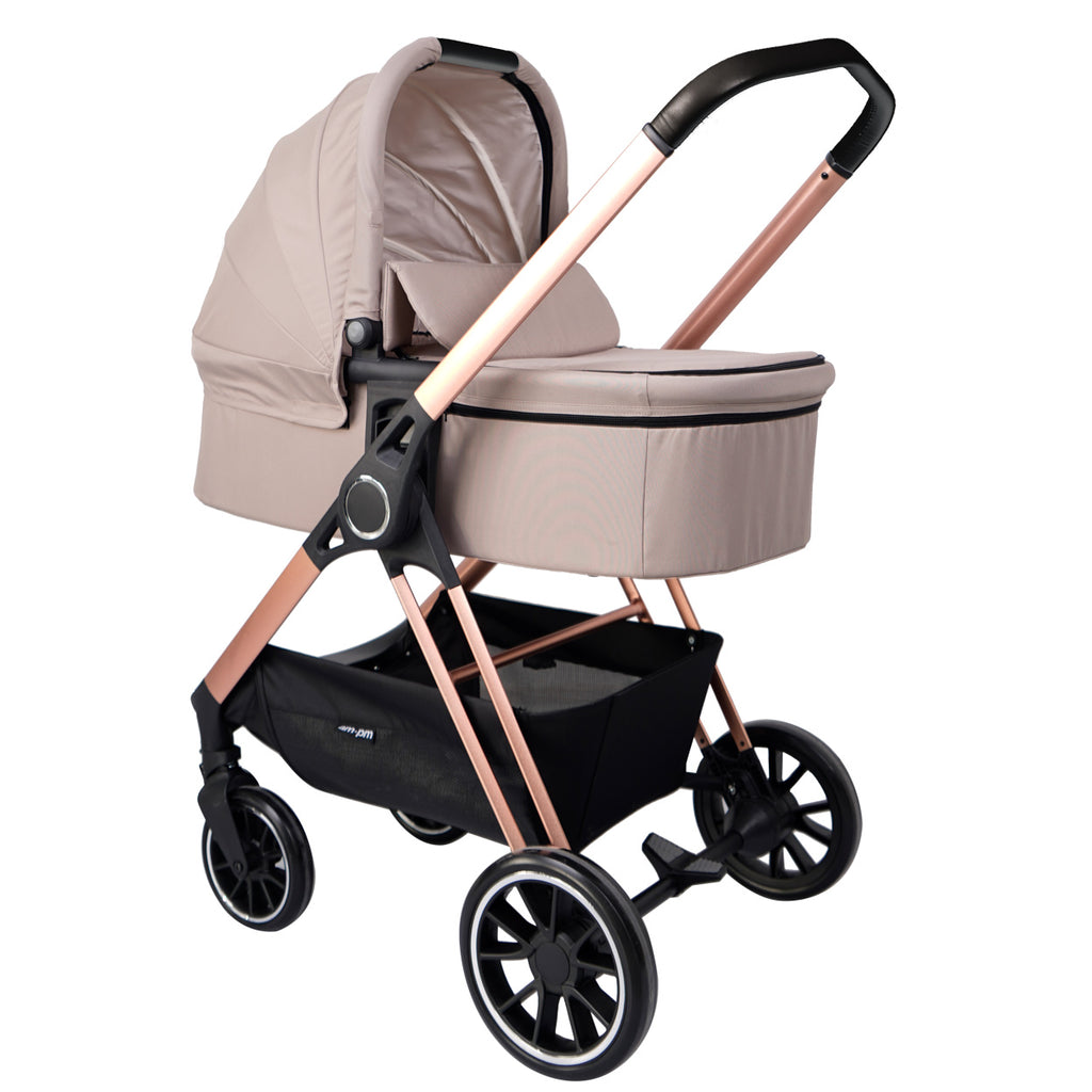 "AM:PM by Christina Milian - Rose Gold & Nude ""Victoria"" Stroller & Bassinet"