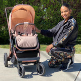 "LIMITED EDITION! AM:PM by Christina Milian - Rose Gold & Blush ""Belgravia"" Stroller & Bassinet"