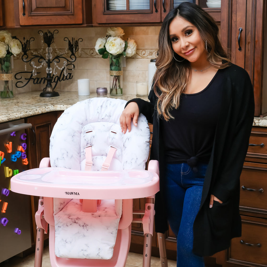 "MAWMA Snooki Rose Gold Marble ""Fitzrovia"" High Chair"