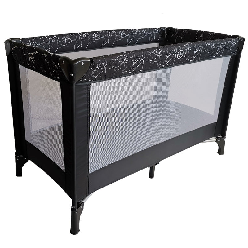 "Black Marble ""Bloomsbury"" Playard / Travel Bed"