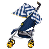 "US02 Blue Chevron ""Richmond"" Lightweight Stroller"