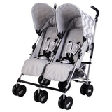 "Grey Chevron ""Chelsea"" Double Stroller"