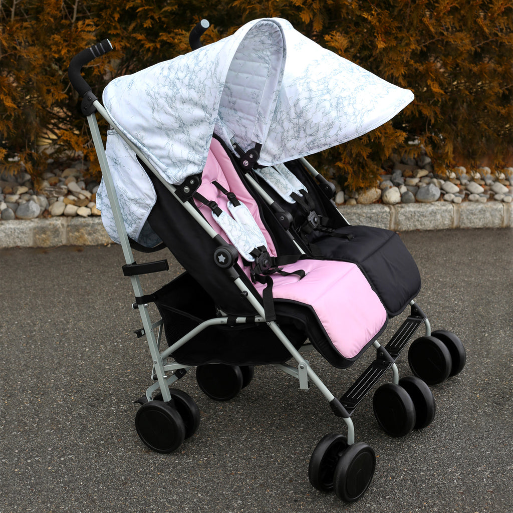 "MAWMA by Nicole 'Snooki' Polizzi Marble ""Chelsea"" Double Stroller"