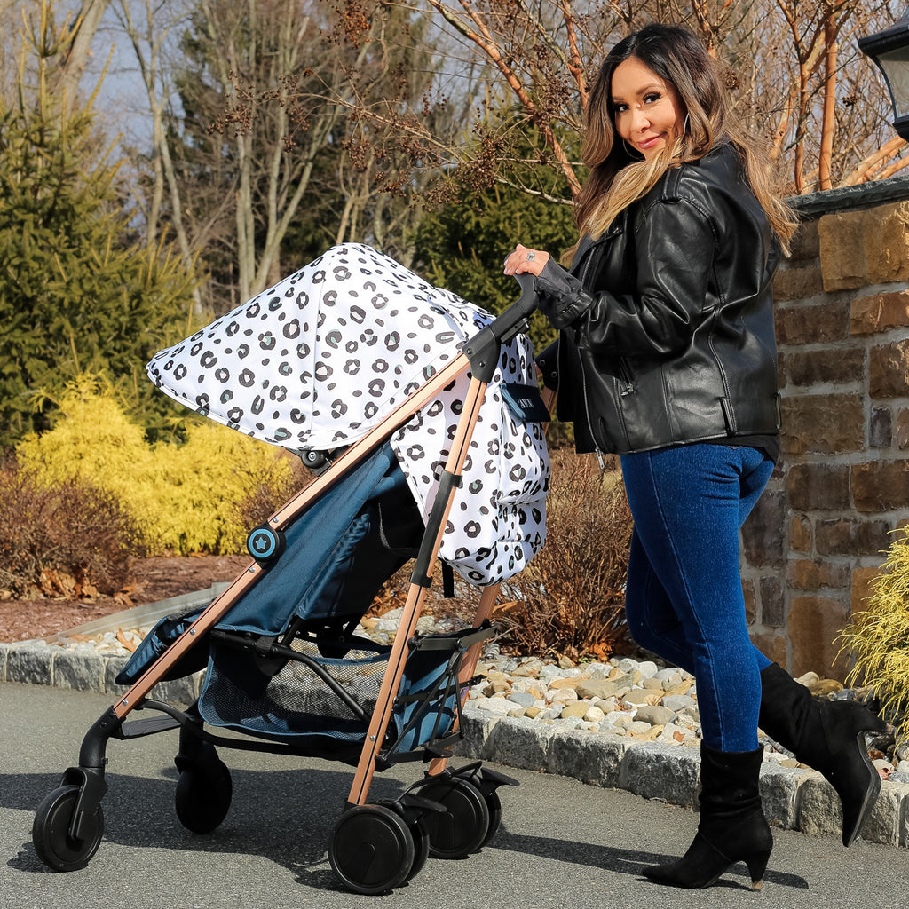 "MAWMA by Snooki - Rose Gold ""Corinthia"" Leopard Lightweight Stroller"