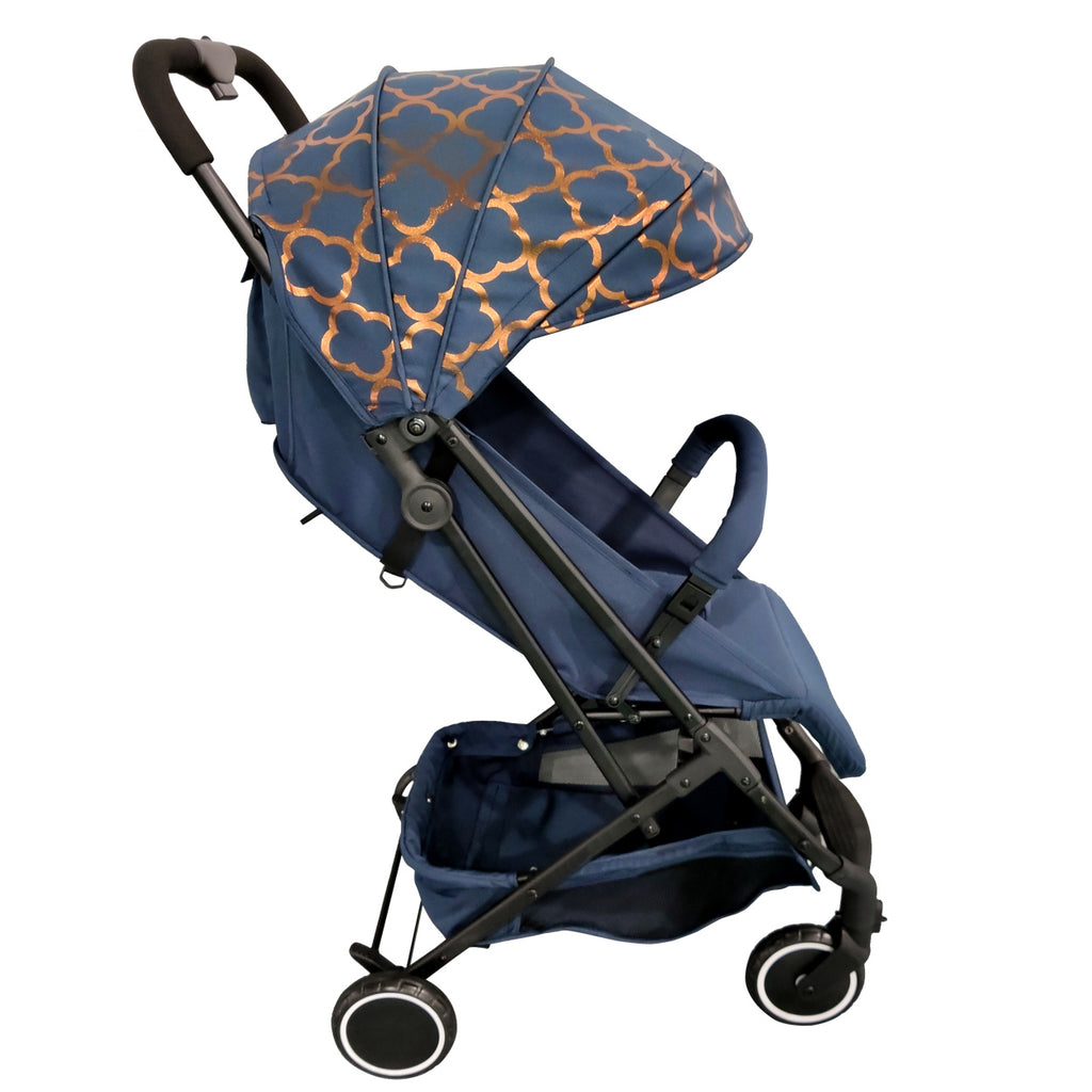 Snooki Compact Travel Stroller Navy Blue