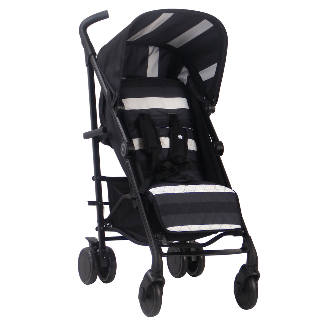 "AM:PM by Christina Milian - Charcoal Stripes ""Corinthia"" Lightweight Stroller"