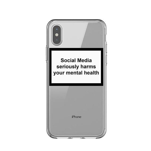 Coque iPhone SOCIAL MEDIA SERIOUSLY HARMS YOUR MENTAL HEALTH™
